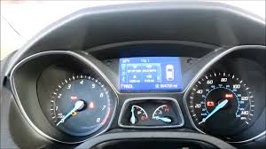 reset oil life monitoring on 2012 2014 ford focus youtube