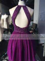 awesome beaded purple short homecoming cocktail party dresses