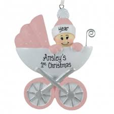personalized christmas ornaments baby baby girl s christmas ornaments for you