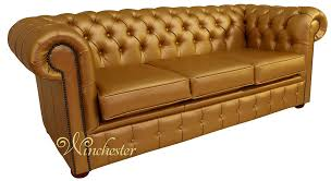 Faux Chesterfield Sofa Chesterfield 3 Seater Settee Batani Gold Faux Leather