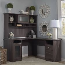 Bush Desks With Hutch Bush Furniture Cabot Collection L Shaped Desk With Hutch Home
