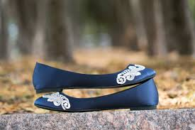 wedding shoes navy blue wedding flatsnavy blue bridal ballet flatswedding shoenavy