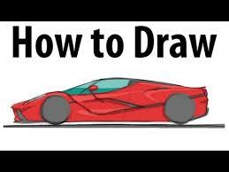 how to draw a ferrari laferrari sketch it quick youtube