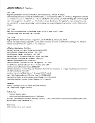 arts administration sample resume 2 uxhandy com