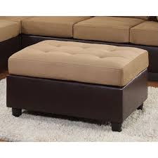 Black Microfiber Ottoman Living Zoe S Furniture