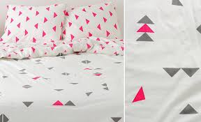 triangle bedding geometric design inspiration for your next accent wall or diy project