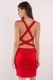 red dress bandage dress ruched dress polyester bodycon dress