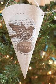 book page christmas ornament tutorial love of family u0026 home