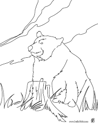 kodiak bear coloring pages hellokids com