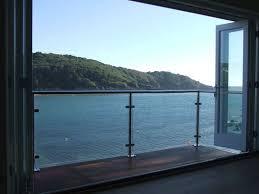 steel balustrade post glass railing balcony railing design