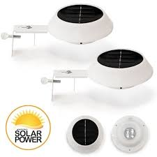 2 pack lunalite solar gutter fence lights free shipping on