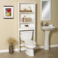bathroom inspiring shelving idea over the toilet for small space bathroom white minimalist over the toilet shelf cabinet ikea