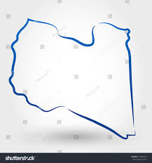 Map Of Libya Map Libya Map Concept Stock Vector 128404556 Shutterstock
