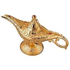 amazon com feyarl legend magic genie light lamp pot classic gold