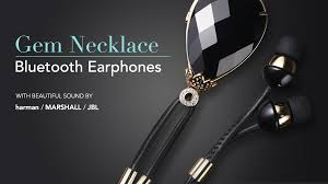 hinice the 1st wearable gem necklace u0026 bluetooth earphones by