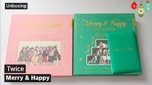 unboxing merry happy 1st album repackage merry