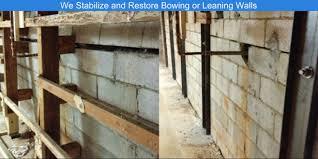 basement wall repair home design