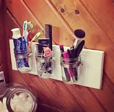 Mason Jar Bathroom Organizer Diy Room Decor How To Make A Mason Jar Bathroom Organizer