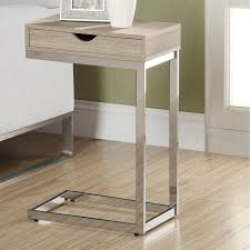c table with wheels nice brown wooden c shaped end table with metal printableboutique