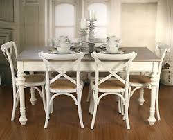 Setting 7 Piece French Provincial Dining Table Cross Back Chairs