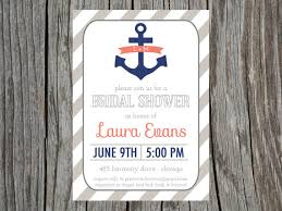 nautical bridal shower invitations items similar to nautical bridal shower invitation anchor