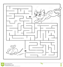education maze or labyrinth game for preschool children puzzle