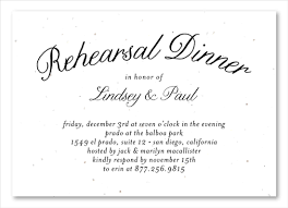 Wedding Inserts Rehearsal Dinner Insert Cards On Seeded Paper Organic By