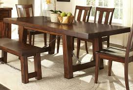 Appealing Small Mahogany Dining Table And Chairs  On Glass - Dining room table with bench