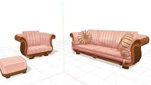 pink sofa set mmd download by hack on deviantart