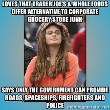 Whole Foods Meme - loves that trader joe s whole foods offer alternative to corporate