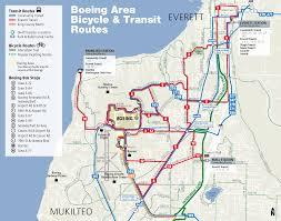 commute map going to boeing everett everett transit wa official website
