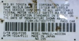 toyota prius vin number prius labels prius wiki fandom powered by wikia
