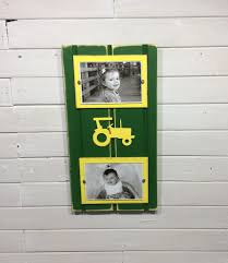John Deere Home Decor by Green And Yellow Picture Frame Holds 2 4