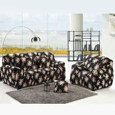 Sofa Slipcover Black Aliexpress Com Buy 1 2 3 4 Seat Sofa Cover Black Rose Printed