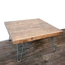 rectangular wood hairpin coffee table coffee table french chateau white rectangular oake table with