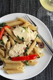 Pasta Recipes Mediterranean Chicken Pasta With Spinach Cooking Chat
