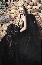 avril lavigne black wedding dress avril lavigne wore a black gown for second wedding would you