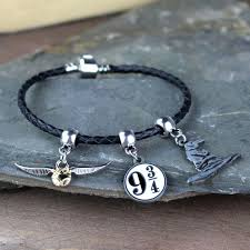 black leather charm bracelet images The official harry potter charm bracelet at toxicfox co uk jpg