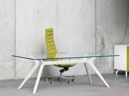 Designer Schreibtisch Frezza Dr Executive Schreibtisch 210x100 Cm Mit Glasplatte Und