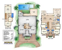 florida style home plans 4435 sq ft 5 bedrooms 5 5 bathrooms floor plans pinterest