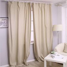 cotton and linen warm ivory thermal blackout curtains buy ivory