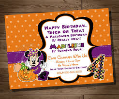minnie mouse halloween invitation minnie mouse birthday party