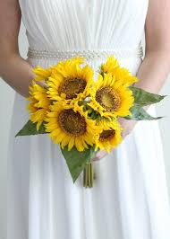 Sunflower Bouquets Artificial Sunflowers Sunflower Weddings Silk Flowers At Afloral