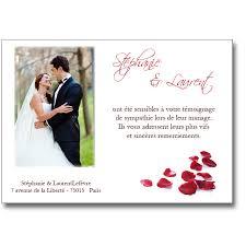 faire part de remerciement mariage remerciement mariage pétales de lutin faire part