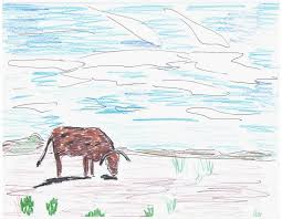 cow sketch nature drawings pictures drawings ideas for kids