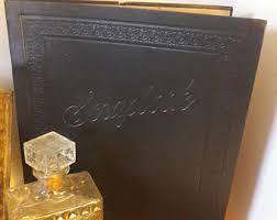 Black Leather Scrapbook Vintage Leather Scrapbook Etsy