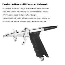 dual action trigger airbrush kit 0 3 0 5 0 8mm needle artwork