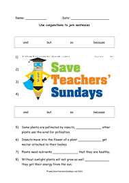 using conjunctions lesson plan and worksheet by