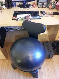 Yoga Ball Desk Chair by Furniture Interesting Gaiam Balance Ball Chair In Yellow With