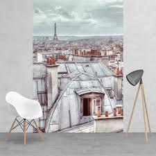 vintage roof tops of paris wallpaper mural 158cm x 232cm classic vintage roof tops of paris wallpaper mural 158cm x 232cm